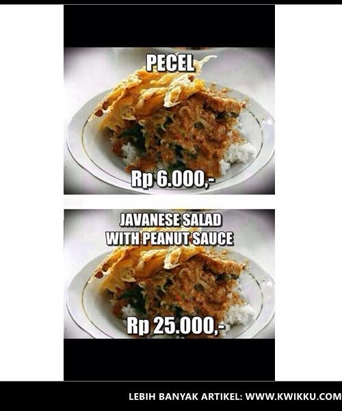 Kwikku, Nasi Pecel  Javanese Salad with Peanut Sauce