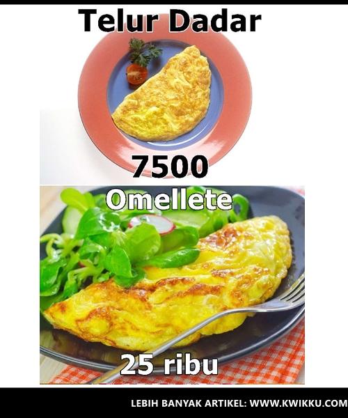 Kwikku, Telur Dadar  Omellete