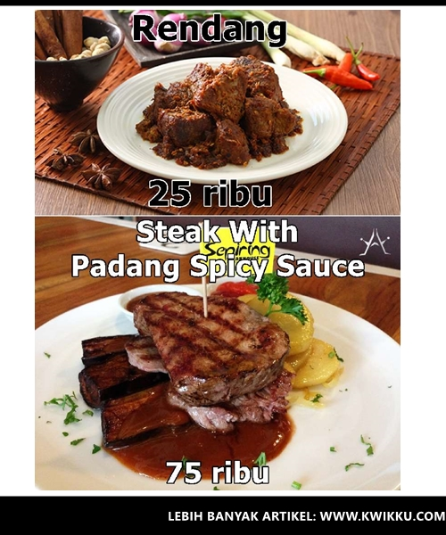 Kwikku, Rendang  Steak With Padang Spicy Sauce