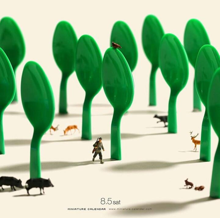 Kwikku, Sendok menjadi Hutan