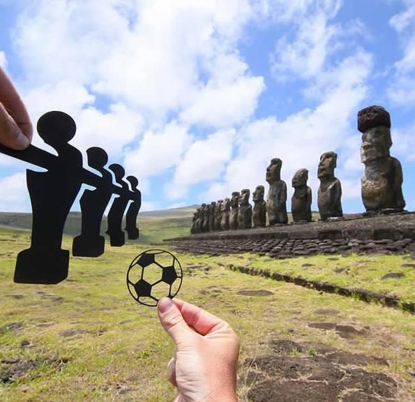Kwikku, Permainan Bola dan Patung di Pulau Paskah