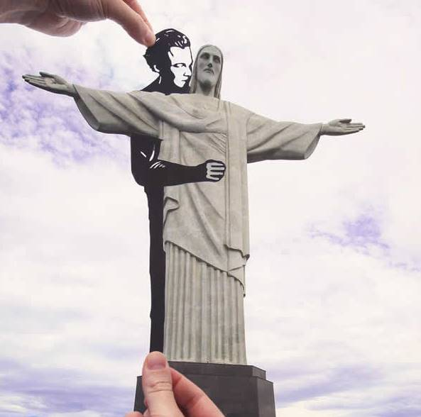 Kwikku, Pria dan Patung Kristus di Rio de Janeiro