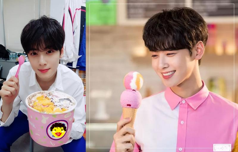 Kwikku, Cha Eun Woo ASTRO makan es krim