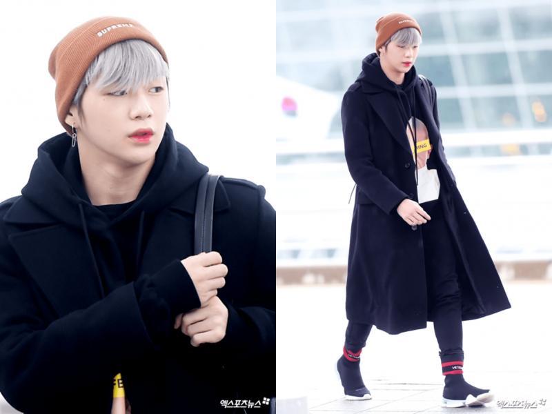 Kwikku, Wanna One Kang Daniel menanggulangi dingin dengan fashion