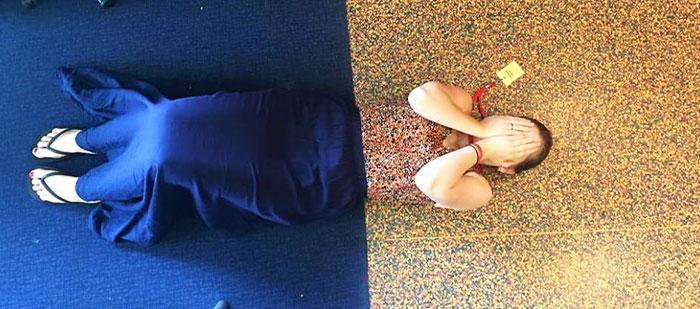Kwikku, Matching sama motif lantai