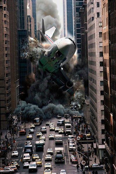 Kwikku, Pesawat jatuh di tengah kota