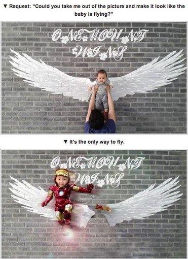Kwikku, Ingin si anak terbang