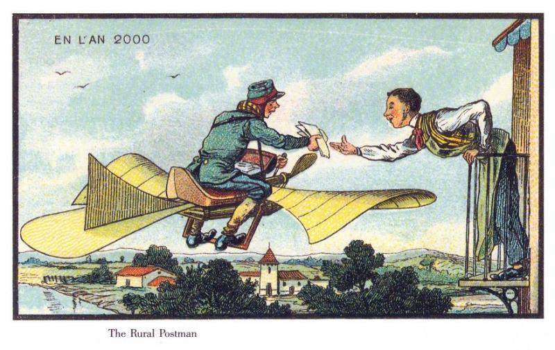 Kwikku, Tukang pos dengan sepeda terbang