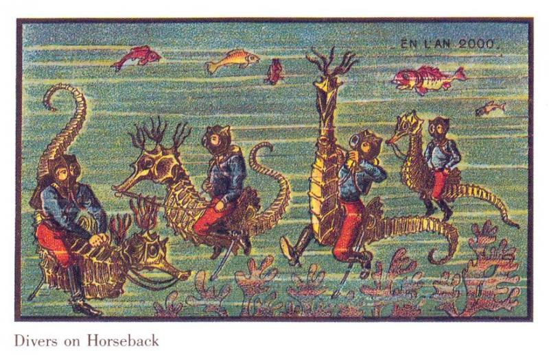 Kwikku, Menunggani kuda laut di dasar lautan