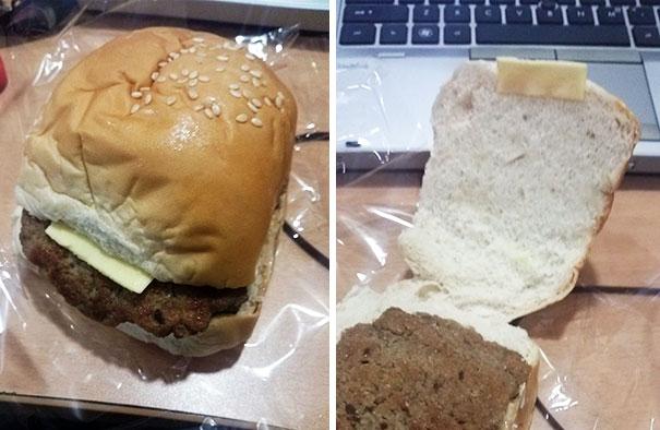Kwikku, Burger dan keju