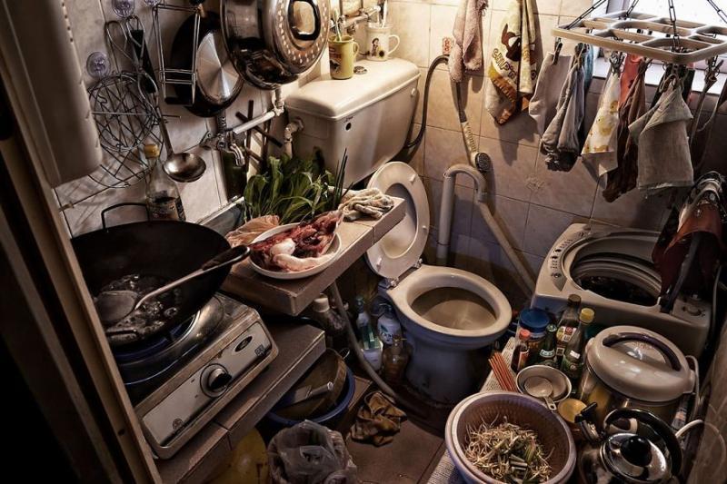 Kwikku, Dapur dan toilet jadi satu