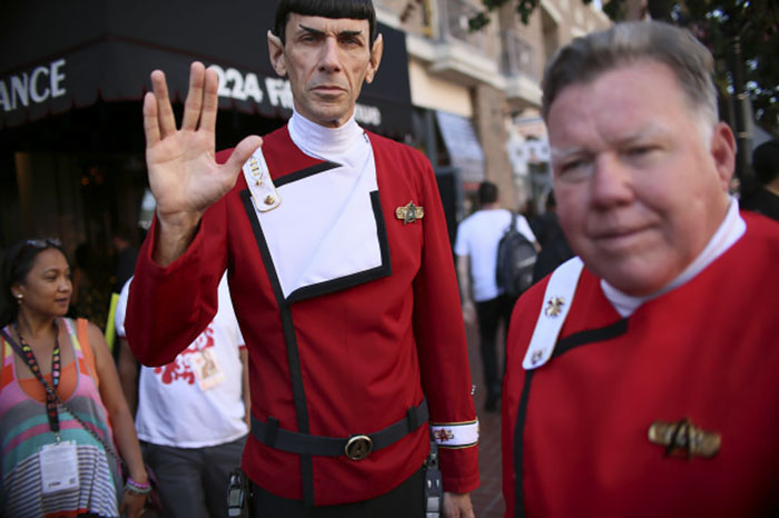Kwikku, Mr Spock And Captain Kirk Star Trek