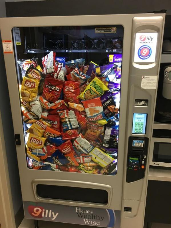 Kwikku, Vending machine rusak