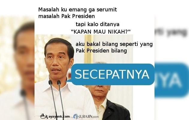 Kwikku, Tiru jawaban Bapak Jokowi secepatnya