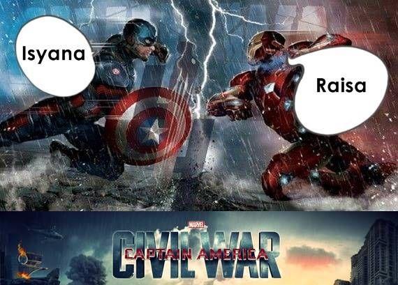 Kwikku, Saat Raisa dan Isyana berjumpa siapsiap ada Civil War