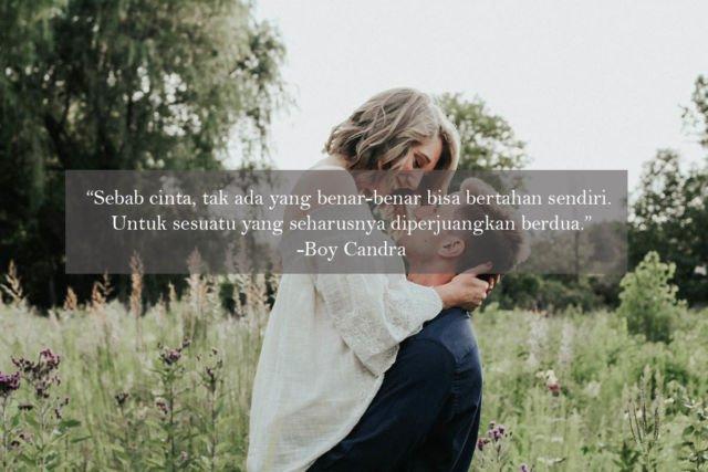 Kwikku, Cinta gak bisa bertahan sendiri karena cinta tentang dua hati yang menjadi satu