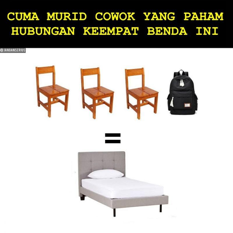 Kwikku, Gak perlu tempat yang nyaman cukup tiga kursi dan tas ransel sudah seperti tidur di hotel