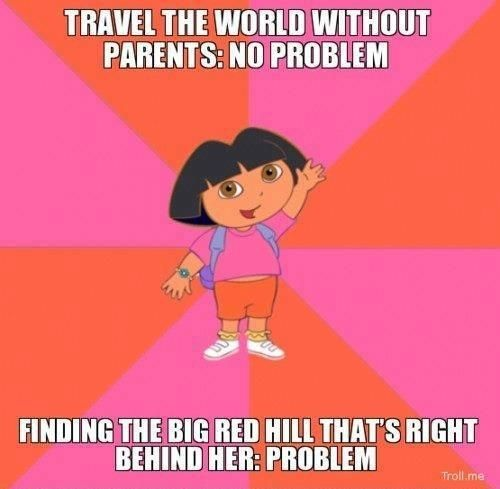 Kwikku, Bisa jalanjalan kemana saja tapi nemuin sungai yang ada di depan mata aja gak bisa Dora sehat