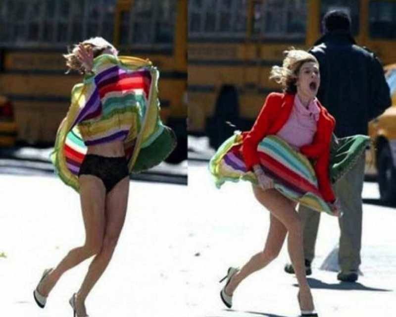 Kwikku, Makanya jangan pakai rok mini begini kan jadinya kalau ketiup angin