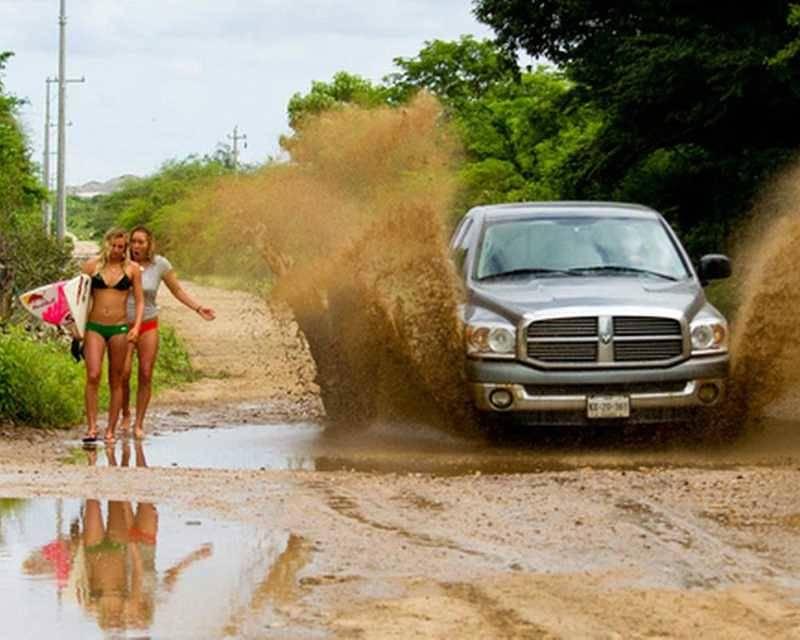 Kwikku, Apes deh habis ke pantai malah kena cipratan air lumpur