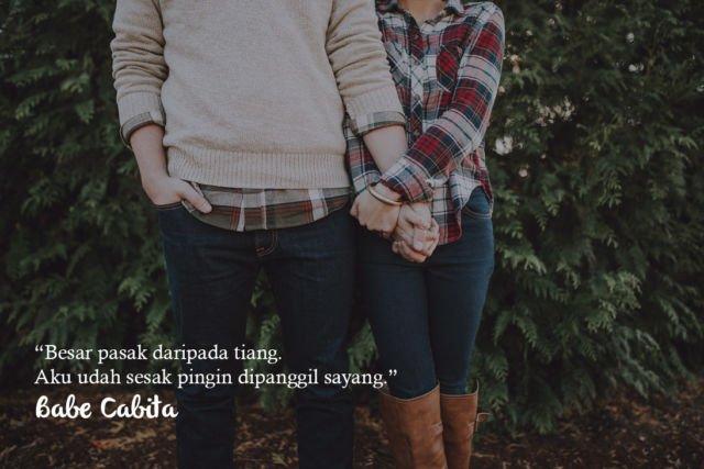 Kwikku, Mungkin Babe Cabita gak terlalu romantis tapi kutipannya bisa mewakili kamu yang lagi PDKT