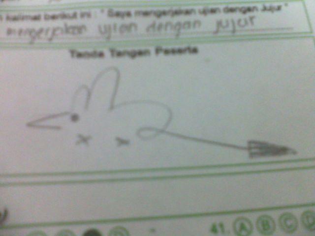 Kwikku, Kocak abis tanda tangan pelajar ini mirip kayak tikus