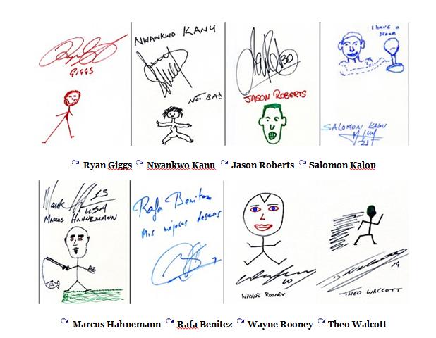Kwikku, Ini dia kumpulan tanda tangan para pemain dan pelatih sepakbola Ada yang dapat tanda tangan mereka
