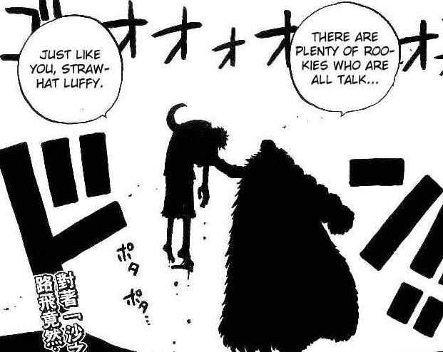 Kwikku, Luffy kalah dari Crocodile