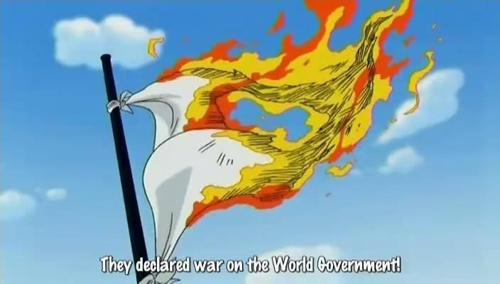 Kwikku, Pembakaran bendera Pemerintah Dunia oleh Sogeking