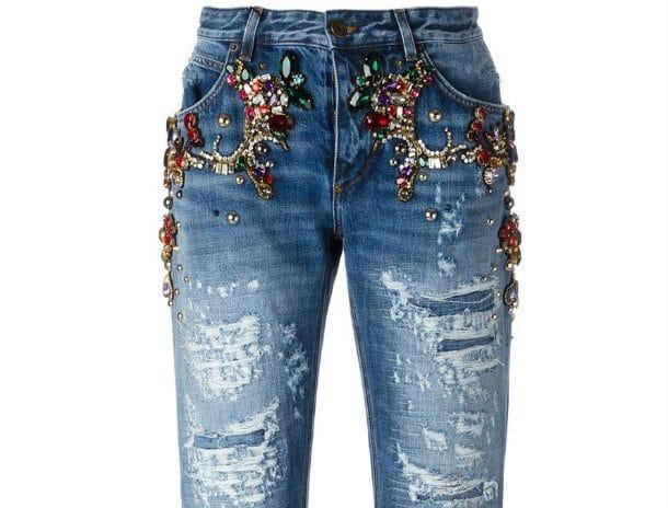 Kwikku, Boyfriend Fit Jeans With Jewel  Rp  juta