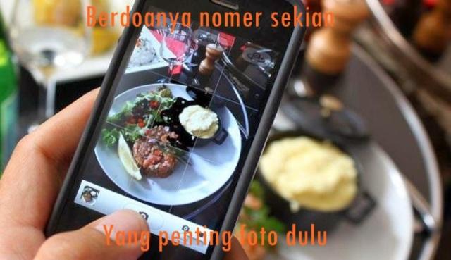 Kwikku, Foto dulu makanannya