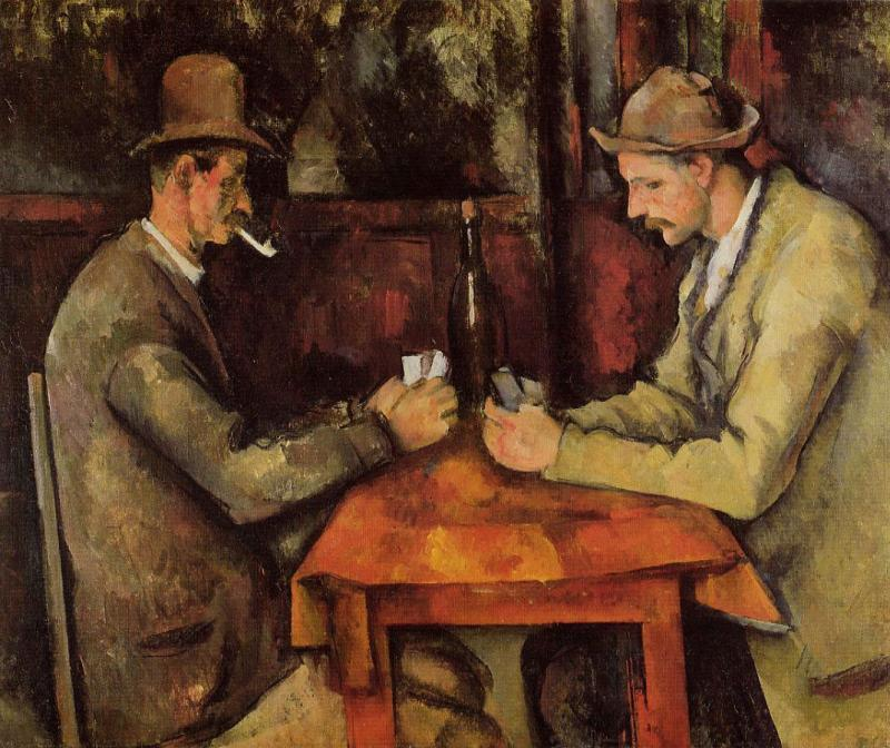 Kwikku, The Card Players oleh Paul Cezanne