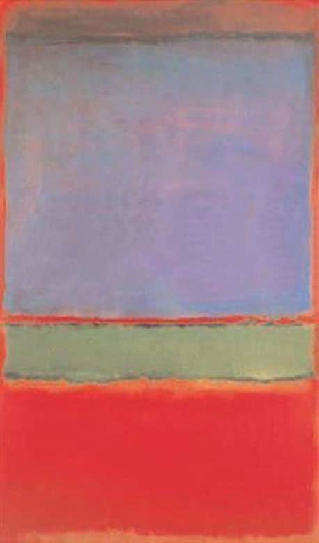 Kwikku, No  Violet Green and Red oleh Mark Rothko