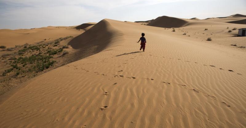 Kwikku, Luas padang pasir