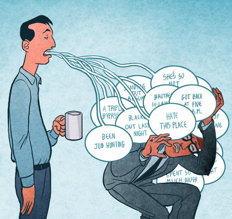 Kwikku, Lebih banyak berbicara daripada mendengar