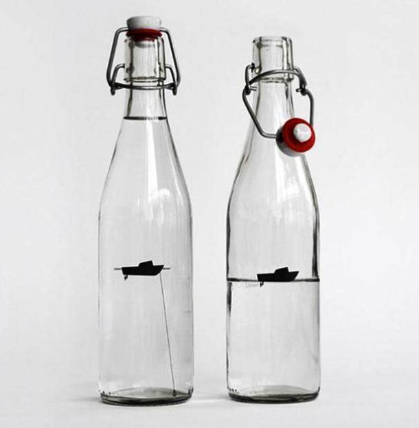 Kwikku, Kapal Boat Dalam Botol