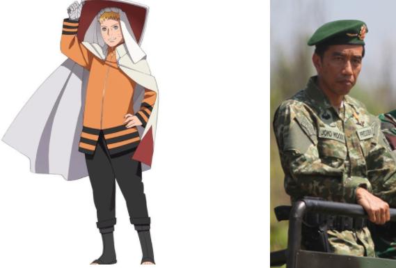 Kwikku, Naruto dan Jokowi
