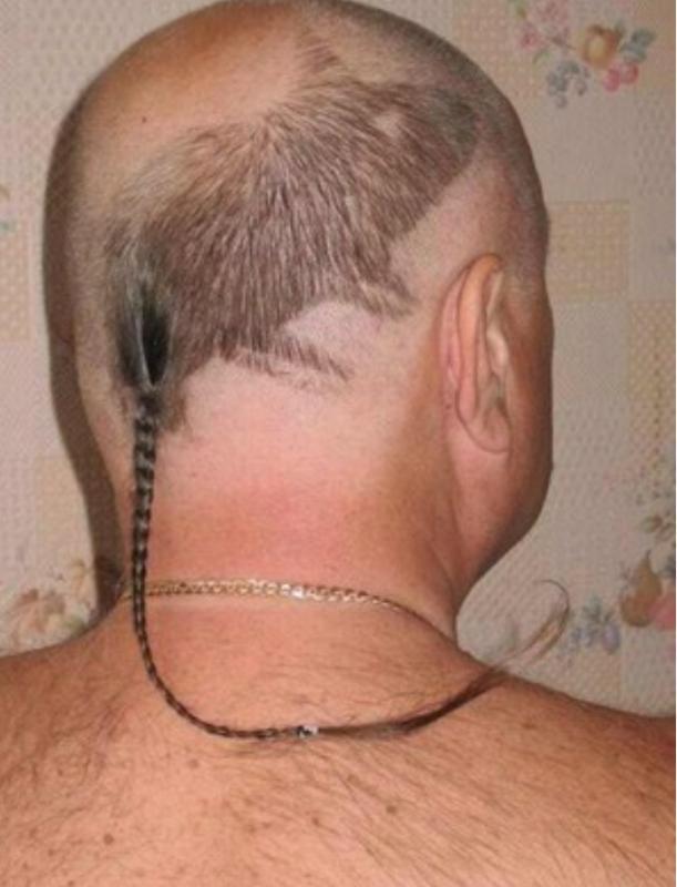 Kwikku, Disisakan seikat kunciran yang nggak terlalu panjang Beberapa helai rambut yang ada dikepala orang ini sudah mirip seperti tikus