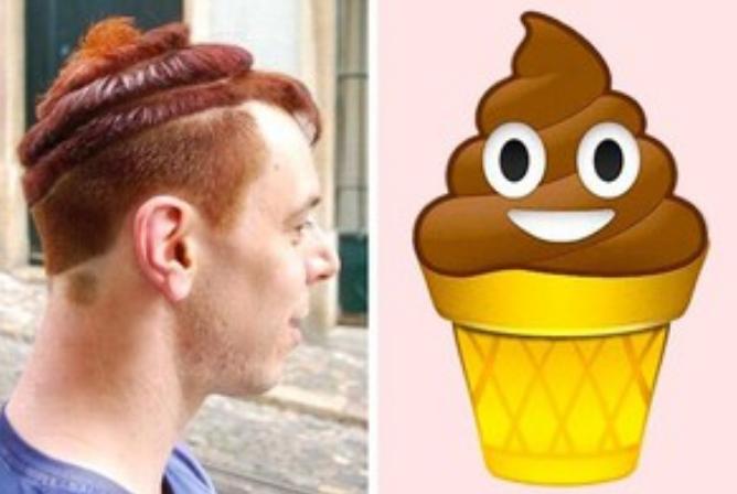 Kwikku, Saking sukanya sama es krim orang ini sampai bikin model rambut bentuk es krim coklat