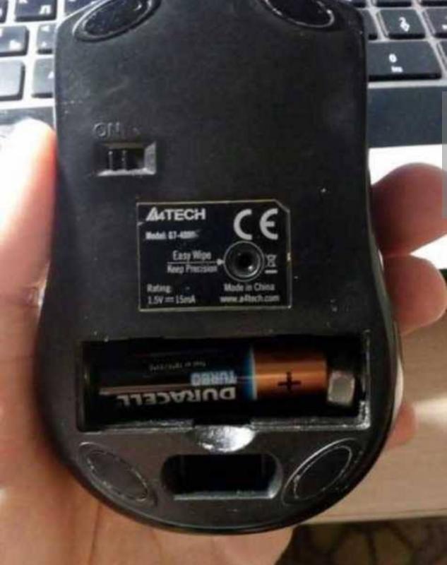 Kwikku, Karena salah beli baterai yang terlalu kecil orang ini menyumpal mur demi bikin mousenya berfungsi