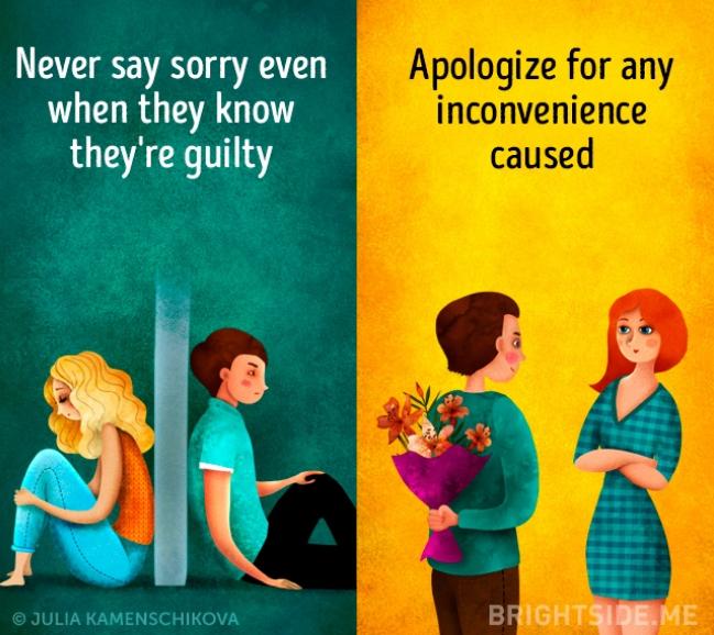 Kwikku, Orang yang berpikiran negatif sering gengsi untuk meminta maaf lain halnya dengan si positif yang selalu peka dan tanggap