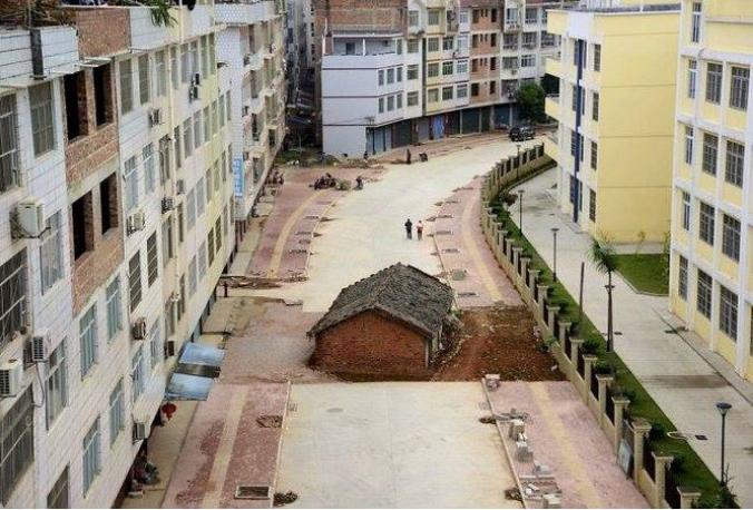 Kwikku, Yang ini adalah rumah paku di Nanning China Foto ini diambil ketika pemilik rumah masih bernegosiasi dengan pengembangnya