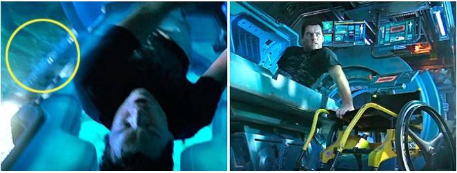 Kwikku, Avatar saat membuka kapsul tidak ada kursi roda disebelah Jake Tapi tibatiba kursi roda muncul dengan anehnya saat dia akan turund ari kapsul