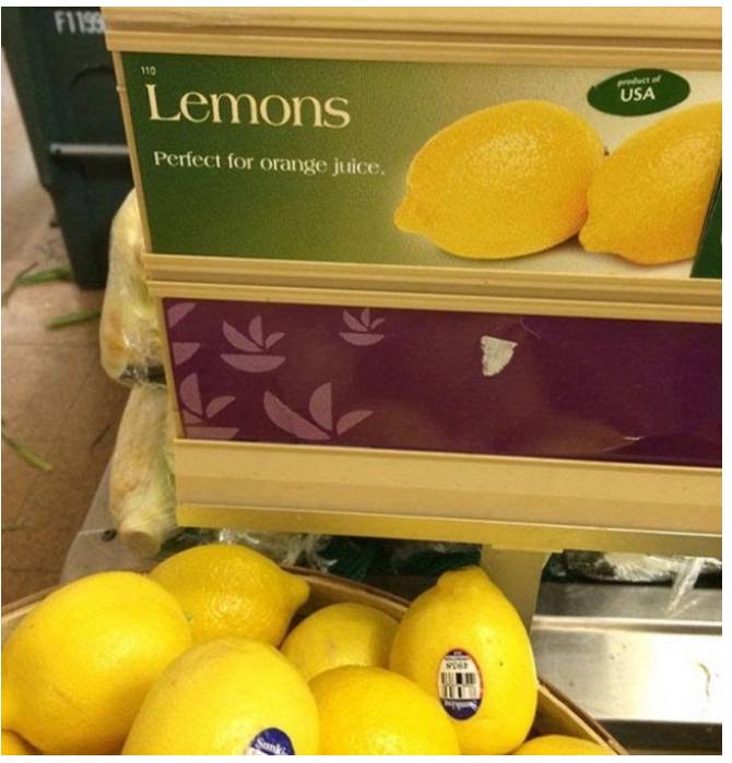 Kwikku, Jelasjelas jeruk peras dan lemon itu beda