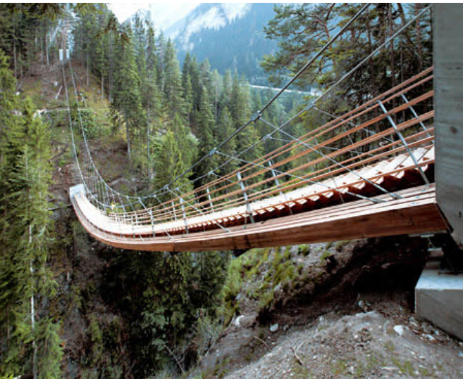 Kwikku, Ada juga jembatan berpola tangga yang ada di Swiss