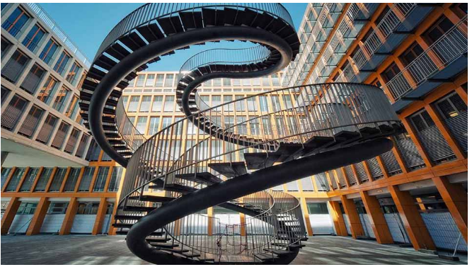 Kwikku, Tangga ini tak menghubungkan ruang atas dan bawah hanya sebagai hiasan yang searah Tangga ini berada di Jerman