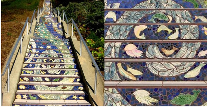Kwikku, Tangga bergambar mozaik dai San Fransisco
