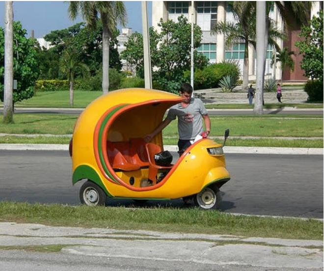 Kwikku, Yang ini nggak mewah sih tapi taksi ini tergolong unik dan berada di Kuba