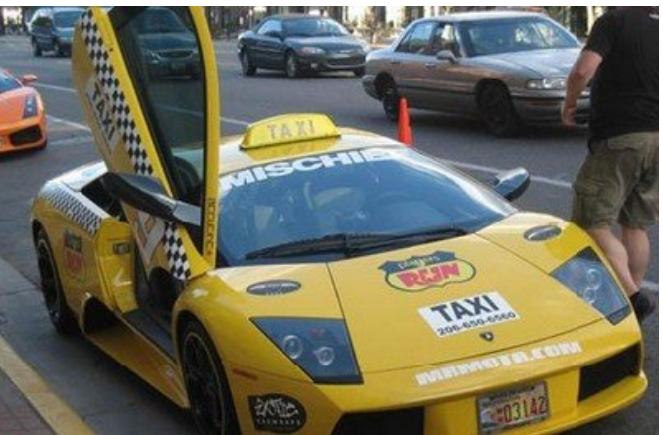 Kwikku, Ada lagi nih mobil mewah yang dijadikan taksi