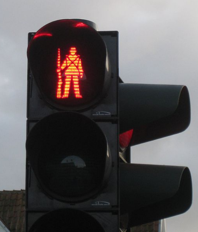 Kwikku, Kalau di Denmark bergambar prajurit perang seperti pengingat agar kamu tak melanggar lalu lintas